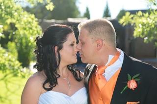 Backlit Wedding shot