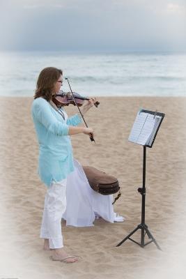 Violin on the Beach