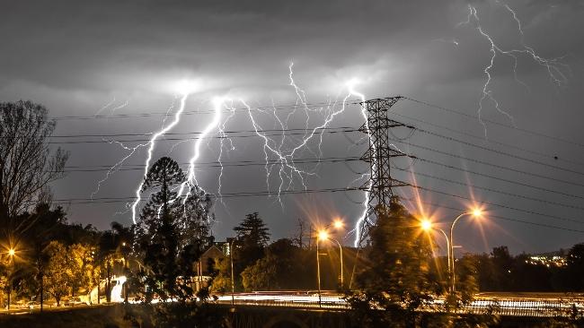 Stacked Lightning Photo