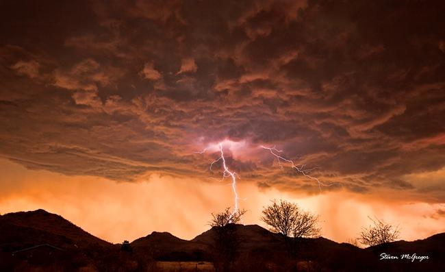 Sunset Lightning Photo